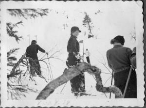 Pujottelukisat vuonna 1937. Kuva: Sallan sota- ja jälleenrakennusajan museo